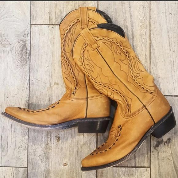a319cc569dd Dan Post western cowboy boots tan size 8 womens